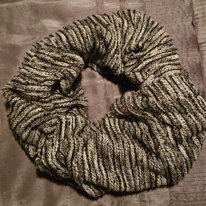 Express Black/White/Grey Woven Infinity Scarf
